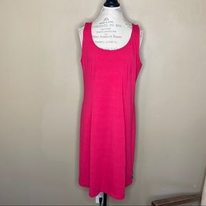Eddie Bauer XL Pink Sleeveless Dress Key Hole Back